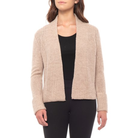 Image of Rolled Back Cuff Cardigan Sweater (For Women)