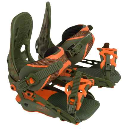 Rome 390 Boss Snowboard Bindings in Olive/Camo - Closeouts