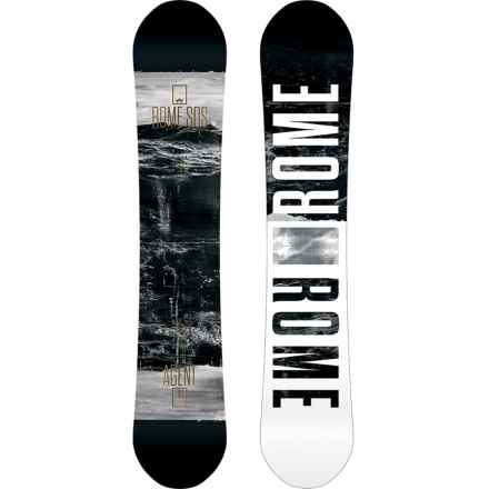 Rome Agent Snowboard in Waves W/Grey Starburst - Closeouts