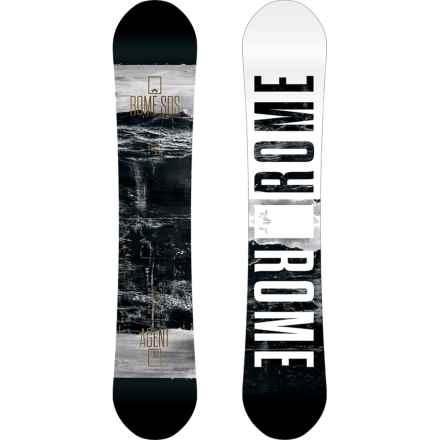 Rome Agent Snowboard in Waves W/ White Starburst - Closeouts