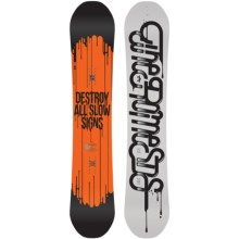 Rome Brigade Snowboard in 155 White/Black - Closeouts