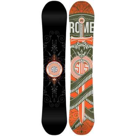 Rome Crossrocket Snowboard in Black/Orange W/Orange/Grey Viper - Closeouts