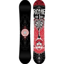 Rome Crossrocket Snowboard in Black/Red W/Pink Eagle - Closeouts