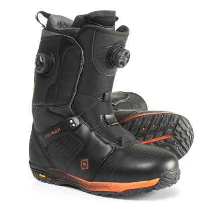 Rome Folsom BOA® Snowboard Boots (For Men) in Black/Orange - Closeouts