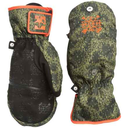 Rome Grit PrimaLoft® Mittens - Waterproof, Insulated (For Men) in Camo - Closeouts