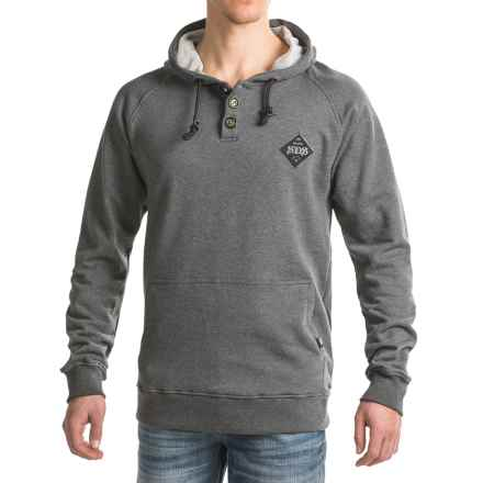 Rome Heritage Henley Hoodie (For Men) in Charcoal - Closeouts