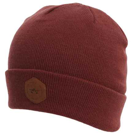 Rome Hex Beanie (For Men) in Burgundy - Closeouts