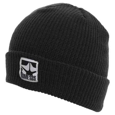 Rome Logo Beanie (For Men) in Black - Closeouts