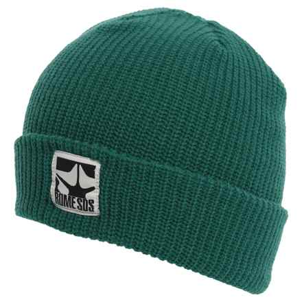 Rome Logo Beanie (For Men) in Forest Green - Closeouts