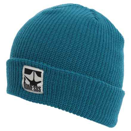 Rome Logo Beanie (For Men) in Slate Blue - Closeouts