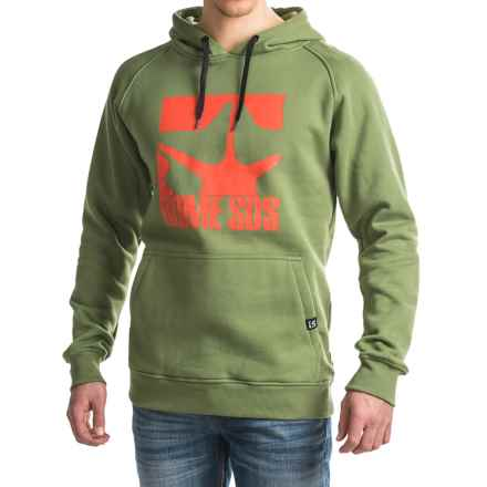 Rome Logo Pullover Hoodie (For Men) in Olive - Closeouts