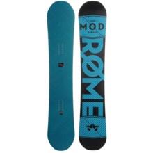Rome Snowboards Mod Snowboard in 162 Black W/Blue Logo - Closeouts
