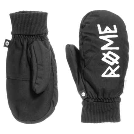 Rome Team Mittens - Waterproof, Insulated (For Men) in Black - Closeouts