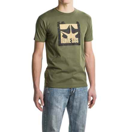 Rome Trees T-Shirt - Crew Neck, Short Sleeves (For Men) in Olive - Closeouts