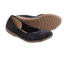 Romika Bahama 101 Ballet Flats - Leather (For Women) in Black Glitter - Closeouts