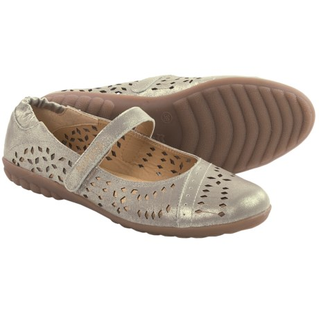 Romika Bahamas 103 Mary Jane Shoes - Leather (For Women) in Platinum