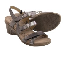 Romika Bali N 07 Sandals - Leather, Wedge Heel (For Women) in Basalt Metallic - Closeouts