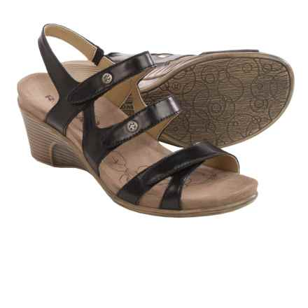 Romika Bali N 07 Sandals - Leather, Wedge Heel (For Women) in Black - Closeouts