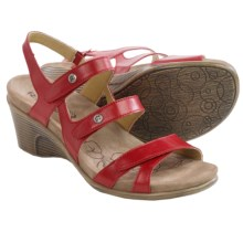 Romika Bali N 07 Sandals - Leather, Wedge Heel (For Women) in Red - Closeouts