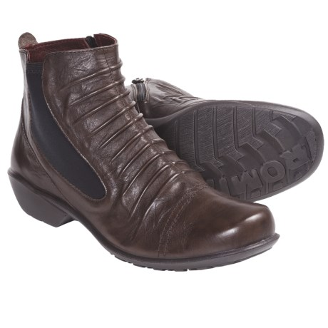 Romika Citylight 07 Ankle Boots - Leather, Side Zip (For Women) in Black