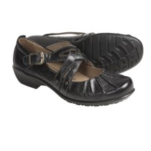Romika Citylight 17 Mary Jane Shoes - Crinkle Leather (For Women) in Black Tropic - Closeouts