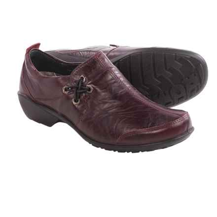 Romika Citylight 44 Shoes - Leather, Slip-Ons (For Women) in Burgundy - Closeouts