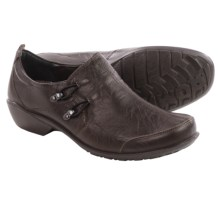Romika Citylight 45 Shoes - Leather, Slip-Ons (For Women) in Dark Brown - Closeouts
