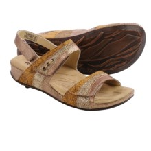 Romika Fidschi 05 Sandals - Leather (For Women) in Gold Combo - Closeouts