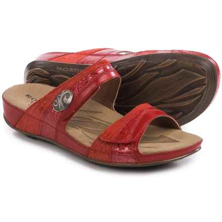 Romika Fidschi 36 Sandals - Leather (For Women) in Coral - Closeouts