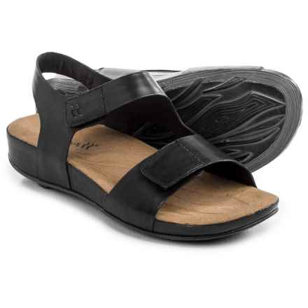 Romika Fidschi 40 Sandals - Leather (For Women) in Black - Closeouts