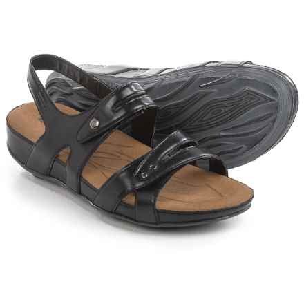 Romika Fidschi 43 Sandals - Leather (For Women) in Black - Closeouts