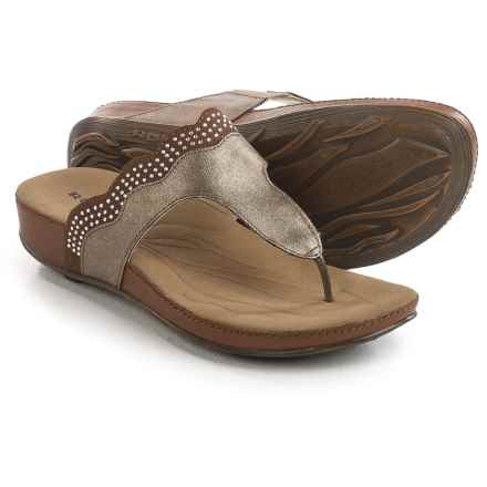Romika Fidschi 44 Sandals - Leather (For Women) in Bronze/Bark - Closeouts