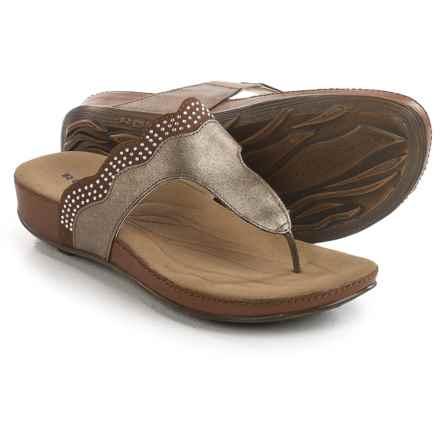 Romika Fidschi 44 Sandals - Leather (For Women) in Bronze/Bark - Closeouts