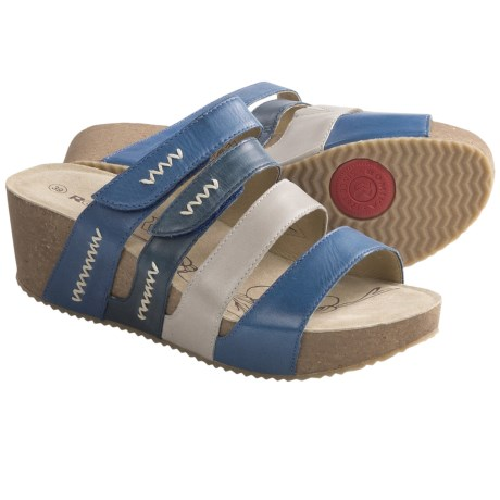 Romika Florida 04 Wedge Sandals (For Women) in Blue
