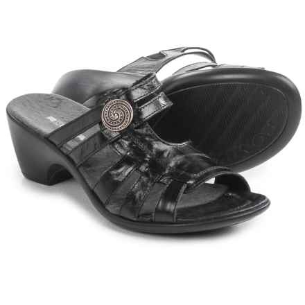 Romika Gorda 03 Leather Sandals (For Women) in Black - Closeouts
