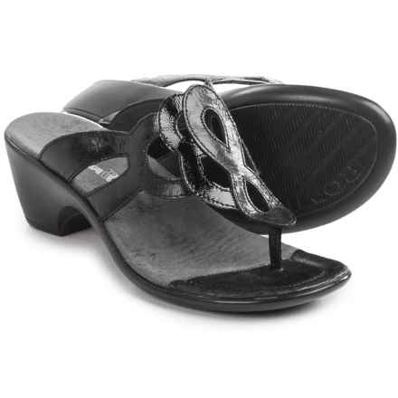 Romika Gorda 04 Sandals - Leather (For Women) in Black - Closeouts