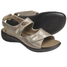 Romika Ibiza 03 Sandals - Leather (For Women) in Antique Platinum Metallic - Closeouts
