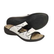 Romika Ibiza 05 Sandals - Leather Slides (For Women) in Bianco - Closeouts