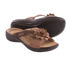 Romika Ibiza 62 Flower Sandals - Leather (For Women) in Bark Surf - Closeouts