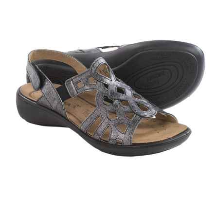 Romika Ibiza 63 Sandals - Leather (For Women) in Anthracite - Closeouts