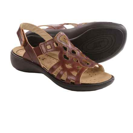 Romika Ibiza 63 Sandals - Leather (For Women) in Brandy - Closeouts