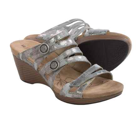 Romika Jamaika 02 Wedge Sandals (For Women) in Grey Camo Suede - Closeouts