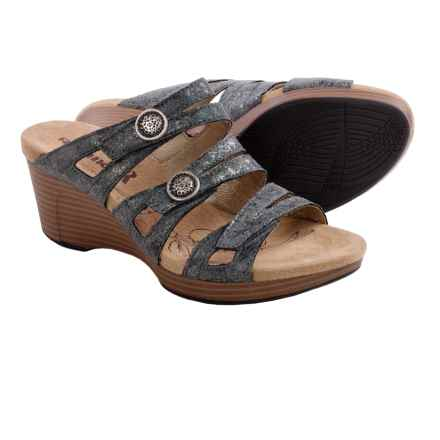 Romika Jamaika 02 Wedge Sandals (For Women) in Grey Sparkly Print - Closeouts