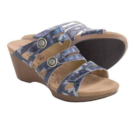 Romika Jamaika 02 Wedge Sandals (For Women) in Ocean Camo - Closeouts