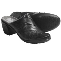 Romika Luna 03 Clogs - Leather (For Women) in Dark Brown