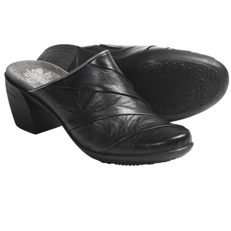 Romika Luna 03 Clogs - Leather (For Women) in Black
