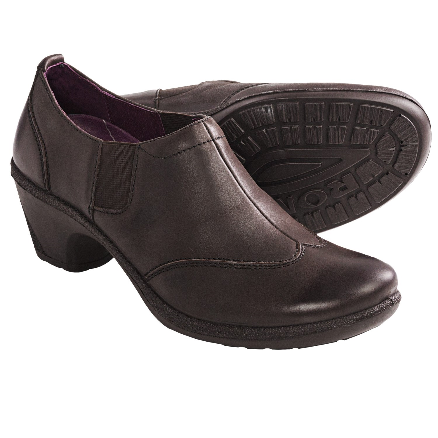 Romika Lyon 07 Shoes - Leather, Slip-Ons (For Women) in Dark Brown