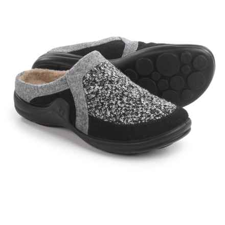 Romika Maddy Home 07 Slip-On Clogs - Wool Felt (For Women) in Grey Multi - Closeouts