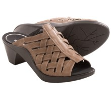Romika Mokassetta 262 Leather Sandals - Peep Toe (For Women) in Taupe - Closeouts
