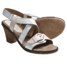 Romika Nizza 03 Sandals - Leather (For Women) in Argento - Closeouts